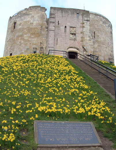 Jewish memorial at Clifford's Tower in York